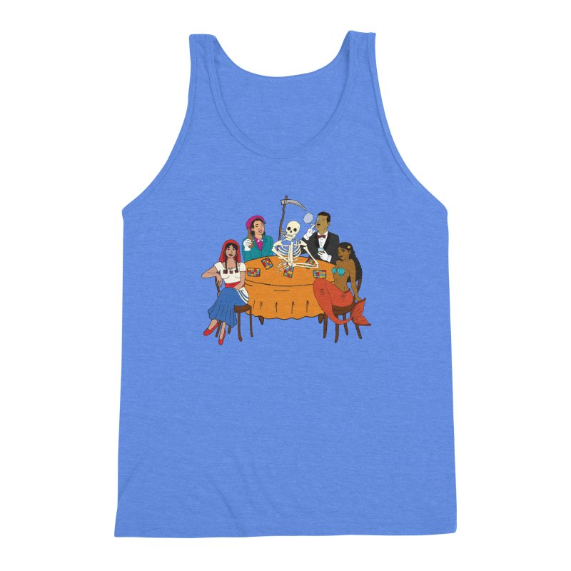 Loteria Party Men's Triblend Tank by yocelynriojas's Artist Shop