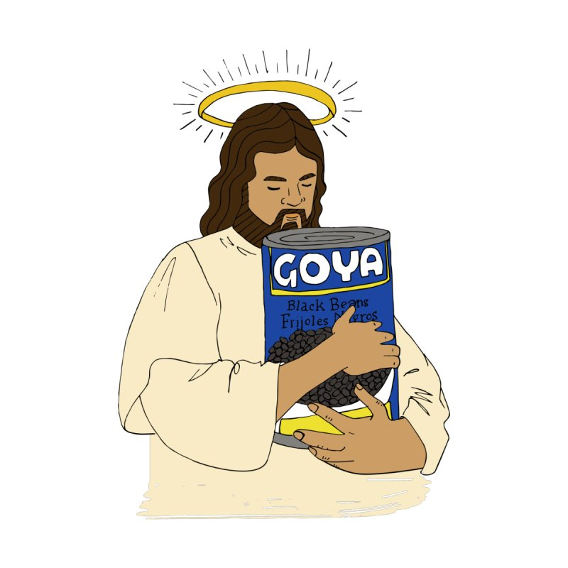 Jesus con Goya Accessories Sticker by yocelynriojas's Artist Shop