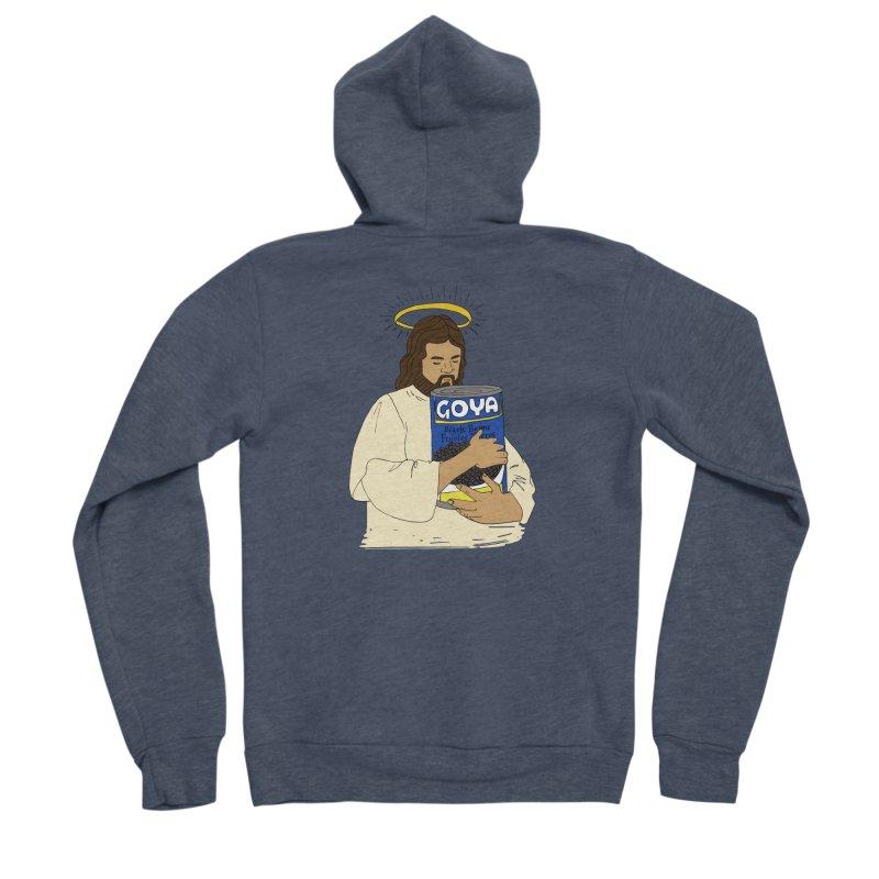 Jesus con Goya Women's Sponge Fleece Zip-Up Hoody by yocelynriojas's Artist Shop