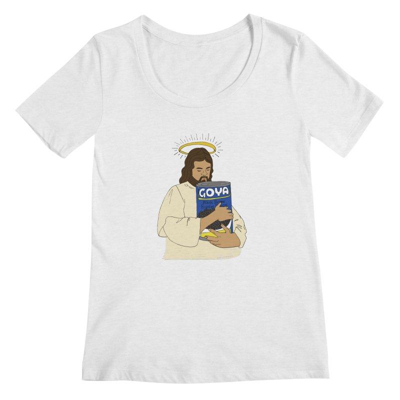 Jesus con Goya Women's Regular Scoop Neck by yocelynriojas's Artist Shop