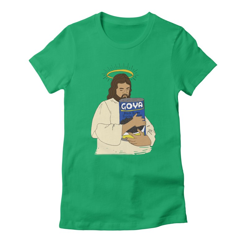 Jesus con Goya Women's Fitted T-Shirt by yocelynriojas's Artist Shop