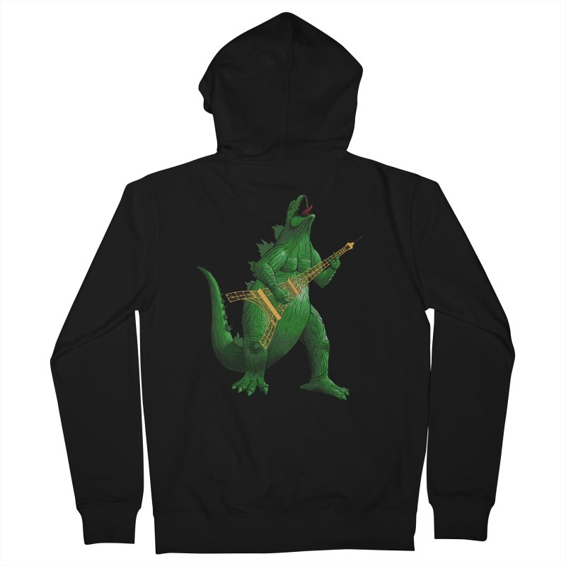 Heavy Metal Women's French Terry Zip-Up Hoody by Yoda's Artist Shop