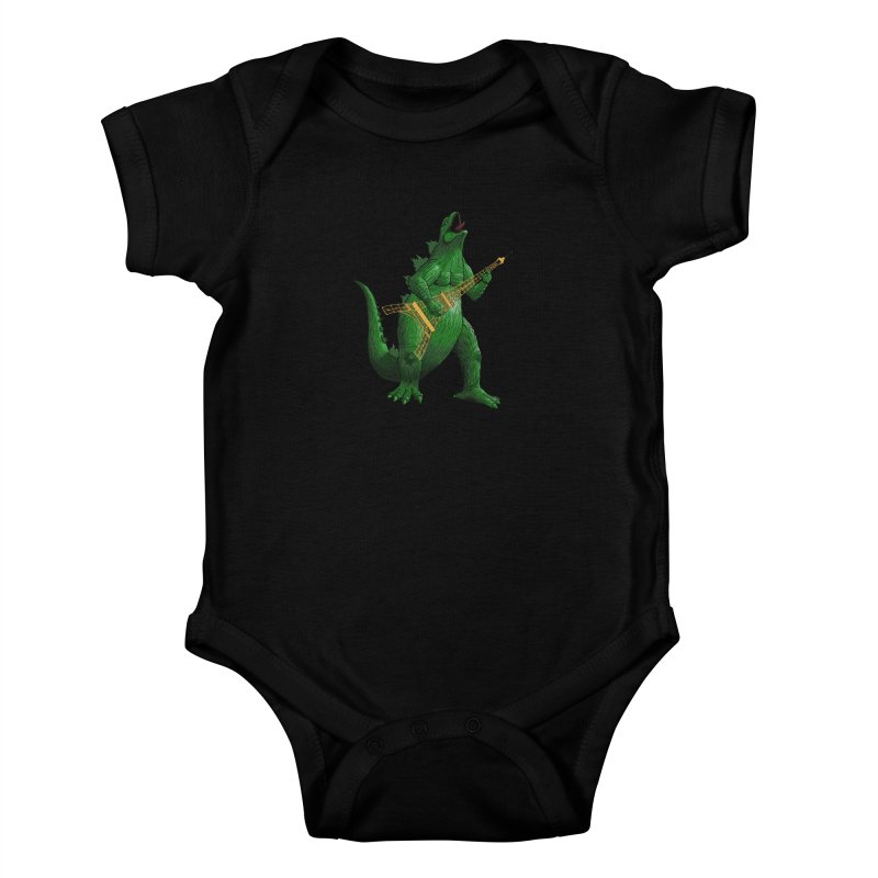 Heavy Metal Kids Baby Bodysuit by Yoda's Artist Shop