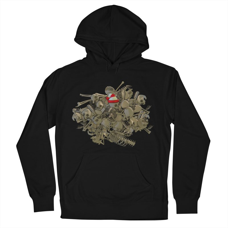 Pile O' Bones Men's French Terry Pullover Hoody by Yoda's Artist Shop