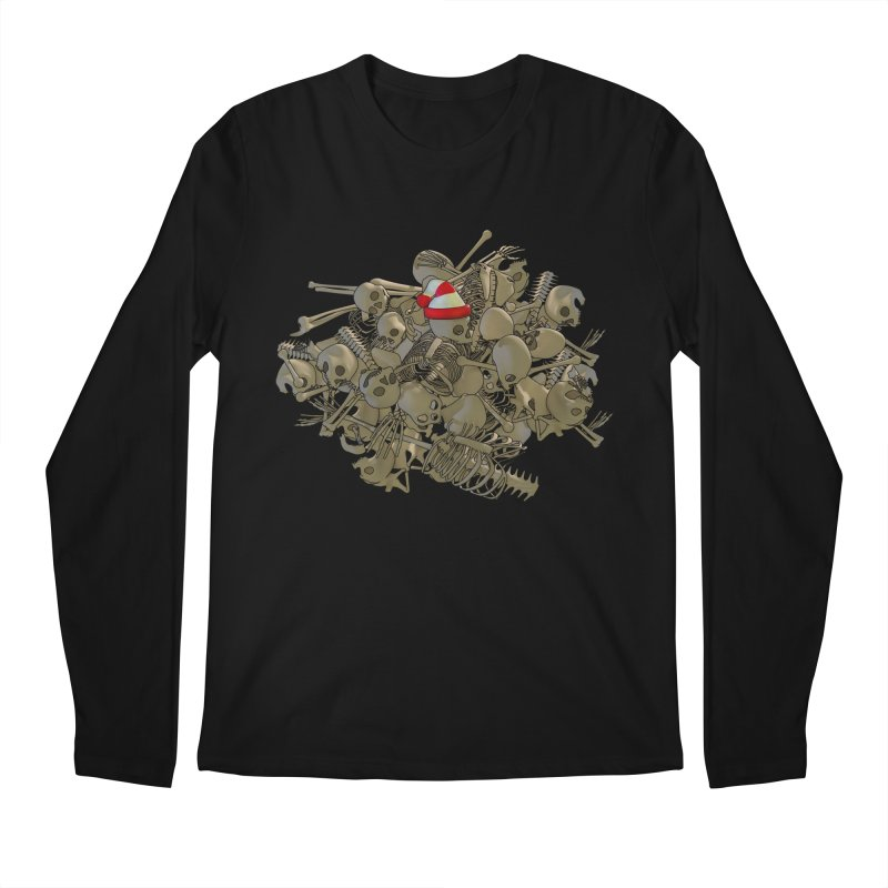 Pile O' Bones Men's Regular Longsleeve T-Shirt by Yoda's Artist Shop