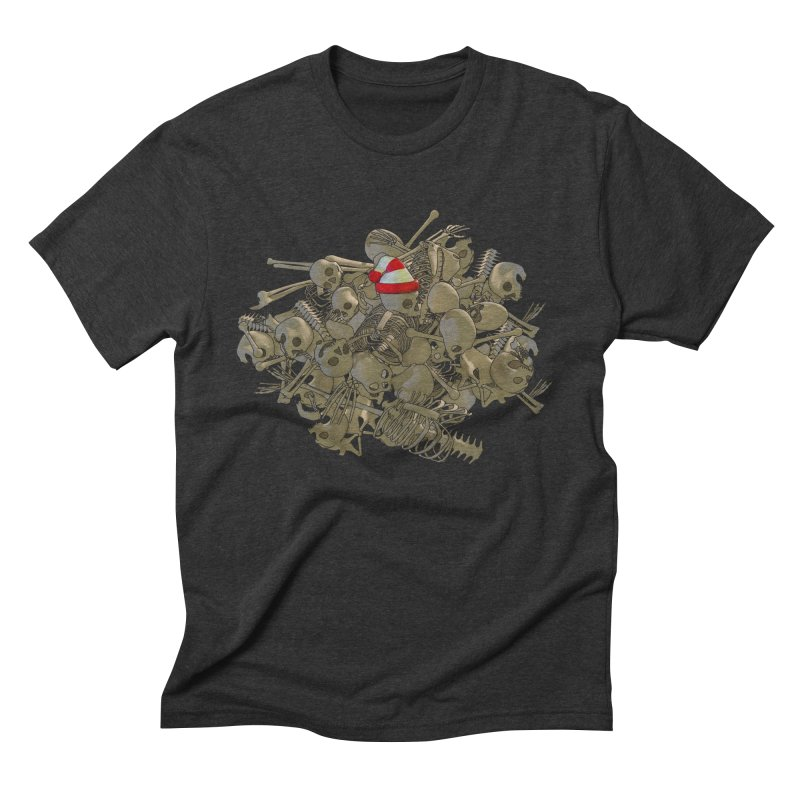 Pile O' Bones Men's Triblend T-shirt by Yoda's Artist Shop