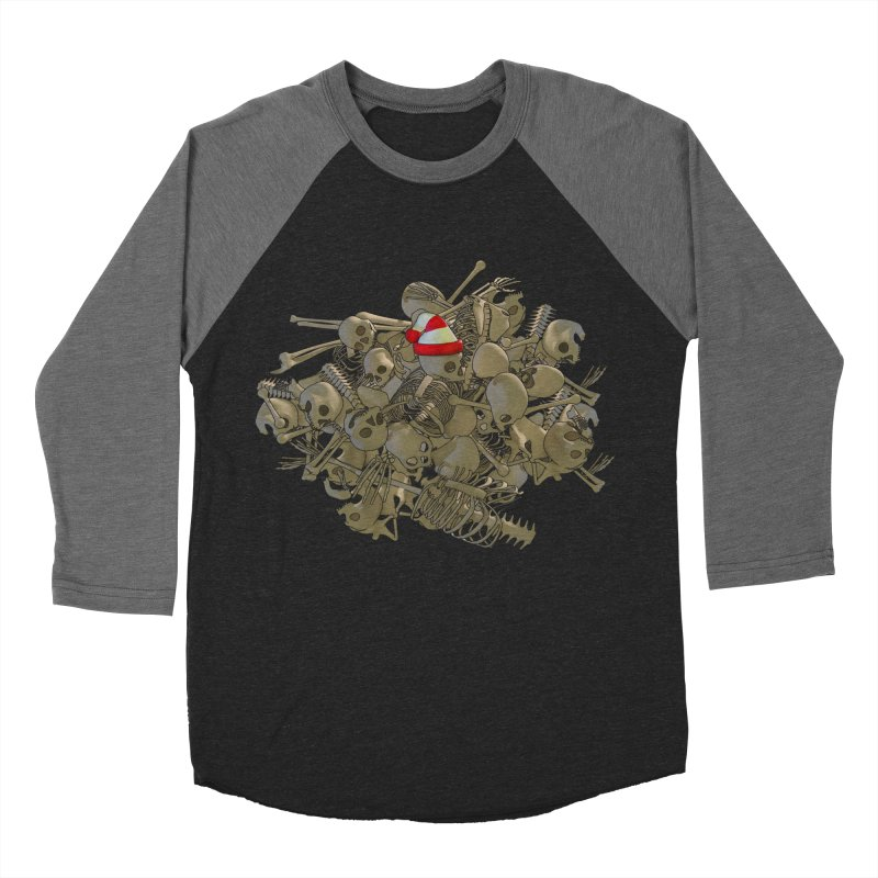 Pile O' Bones Men's Baseball Triblend T-Shirt by Yoda's Artist Shop