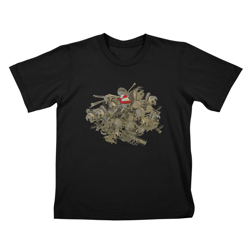 Pile O' Bones Kids T-shirt by Yoda's Artist Shop
