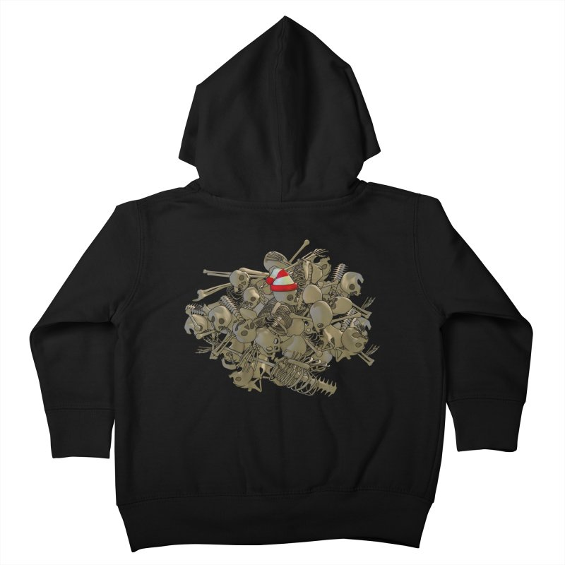 Pile O' Bones Kids Toddler Zip-Up Hoody by Yoda's Artist Shop