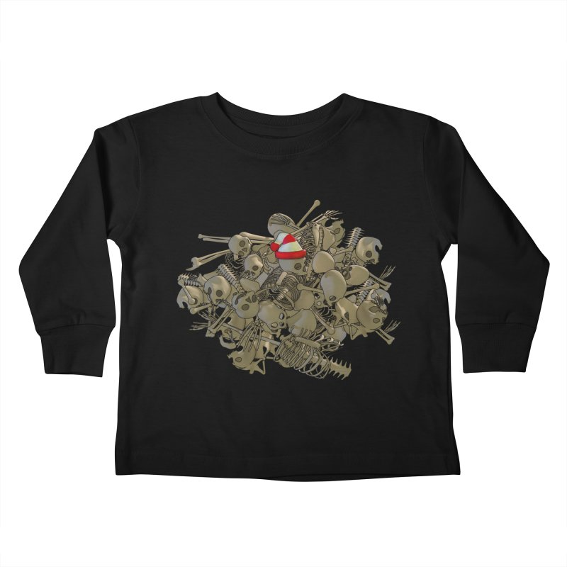 Pile O' Bones Kids Toddler Longsleeve T-Shirt by Yoda's Artist Shop