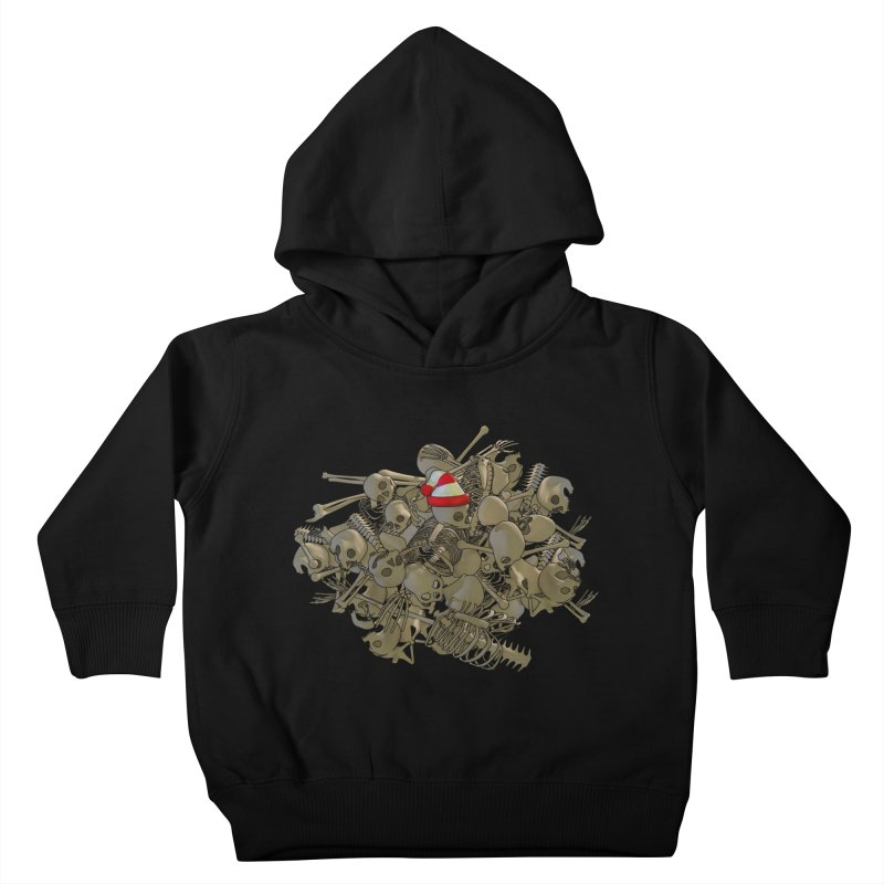 Pile O' Bones Kids Toddler Pullover Hoody by Yoda's Artist Shop