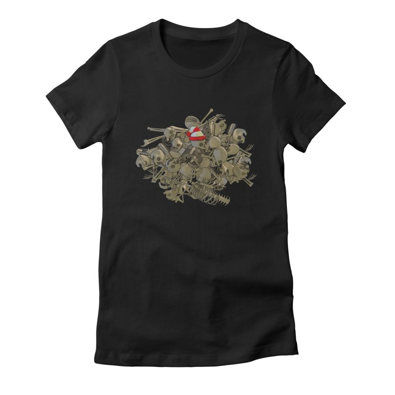 Pile O' Bones Women's Fitted T-Shirt by Yoda's Artist Shop