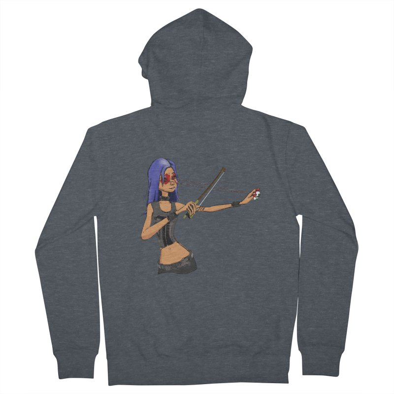 The Eyeolinist Women's French Terry Zip-Up Hoody by Yoda's Artist Shop