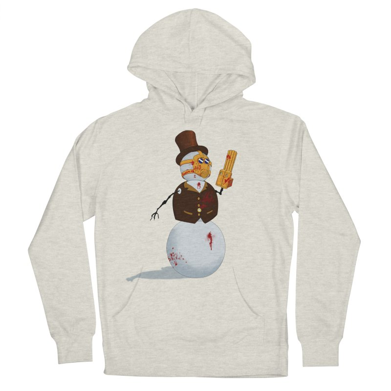 The Snowman Men's French Terry Pullover Hoody by Yoda's Artist Shop