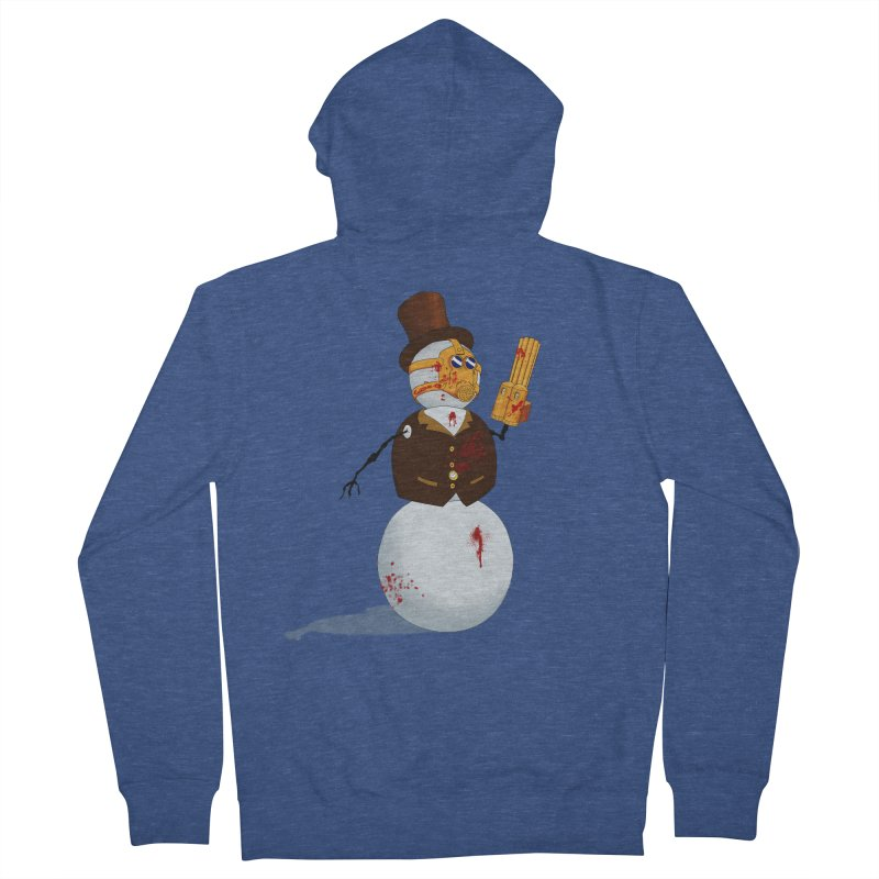 The Snowman Women's French Terry Zip-Up Hoody by Yoda's Artist Shop