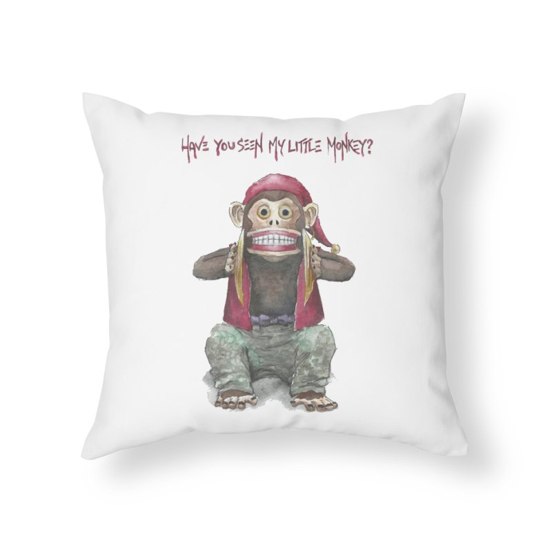 Evil Toy Monkey Home Throw Pillow by Yodagoddess' Artist Shop