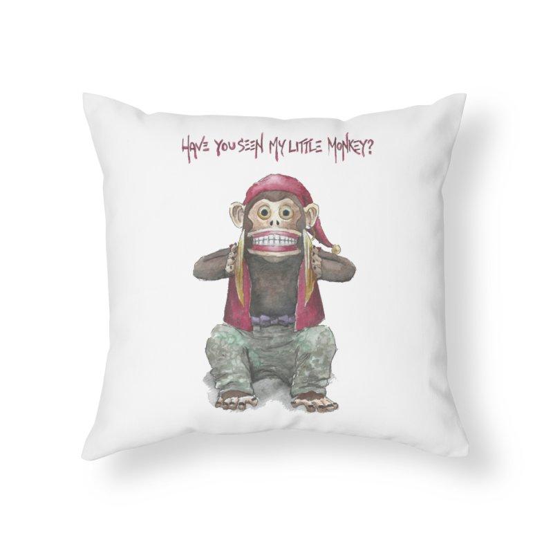 Evil Toy Monkey Home Throw Pillow by Yodagoddess' Artist Shop