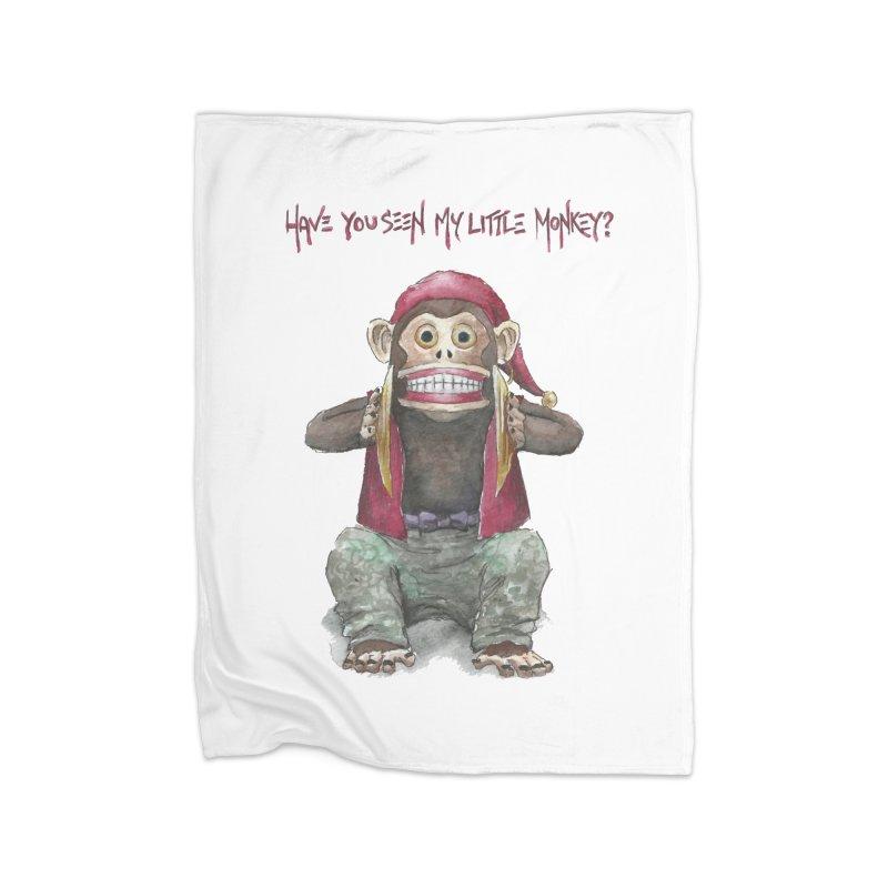 Evil Toy Monkey Home Blanket by Yodagoddess' Artist Shop