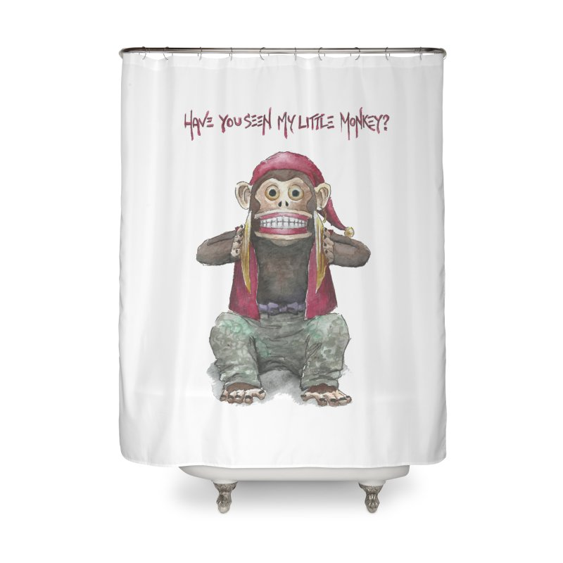 Evil Toy Monkey Home Shower Curtain by Yodagoddess' Artist Shop