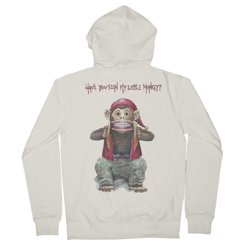 Evil Toy Monkey Men's Zip-Up Hoody by Yodagoddess' Artist Shop