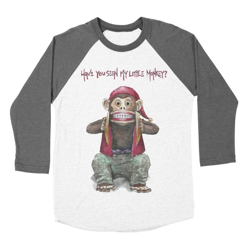 Evil Toy Monkey Women's Baseball Triblend T-Shirt by Yodagoddess' Artist Shop