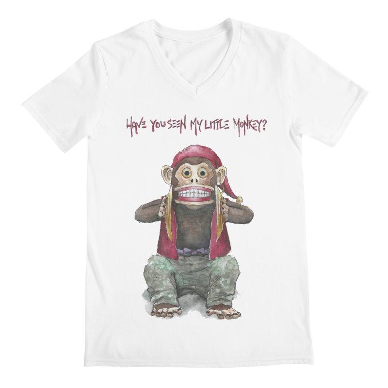 Evil Toy Monkey Men's V-Neck by Yodagoddess' Artist Shop