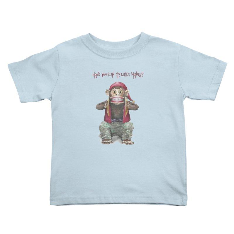 Evil Toy Monkey Kids Toddler T-Shirt by Yodagoddess' Artist Shop