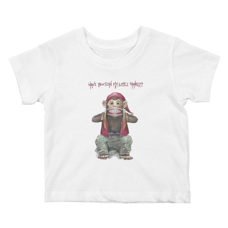 Evil Toy Monkey Kids Baby T-Shirt by Yodagoddess' Artist Shop