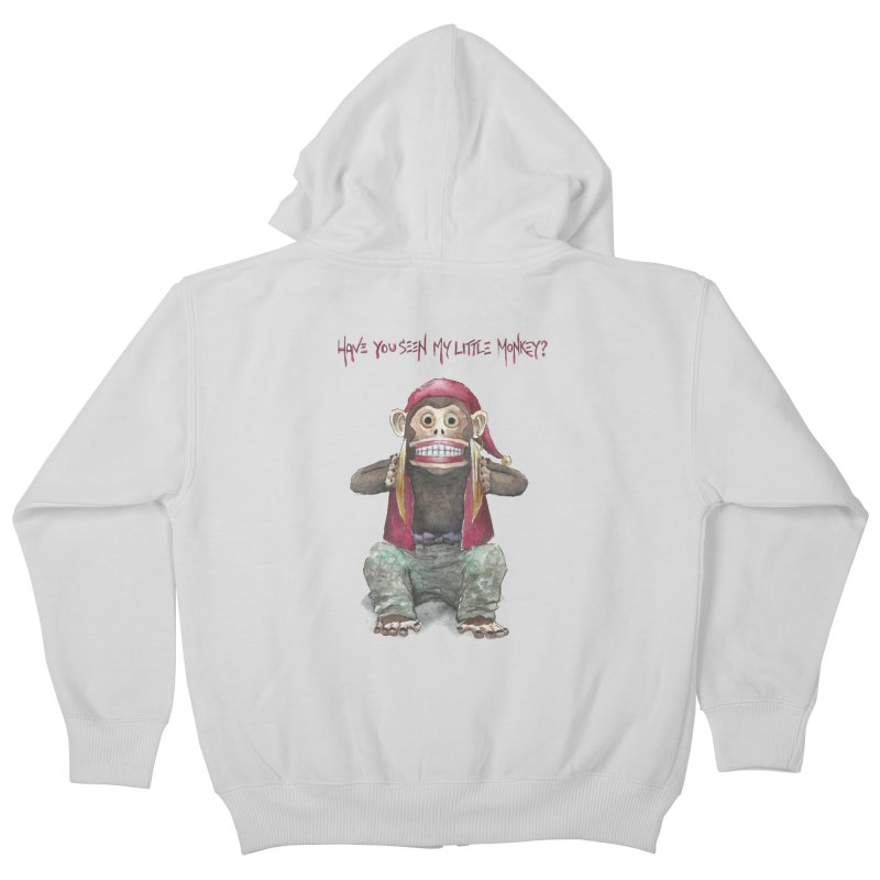 Evil Toy Monkey Kids Zip-Up Hoody by Yodagoddess' Artist Shop