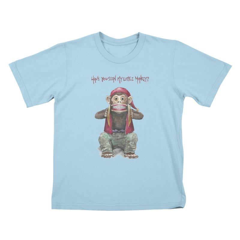 Evil Toy Monkey Kids T-shirt by Yodagoddess' Artist Shop