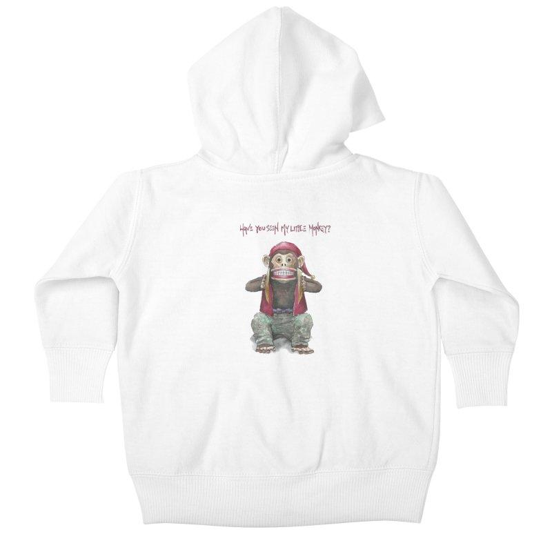 Evil Toy Monkey Kids Baby Zip-Up Hoody by Yodagoddess' Artist Shop