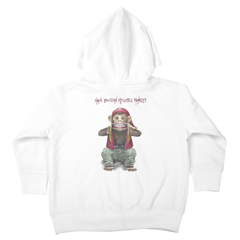 Evil Toy Monkey Kids Toddler Zip-Up Hoody by Yodagoddess' Artist Shop