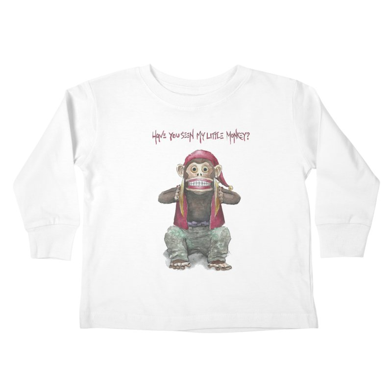 Evil Toy Monkey Kids Toddler Longsleeve T-Shirt by Yodagoddess' Artist Shop