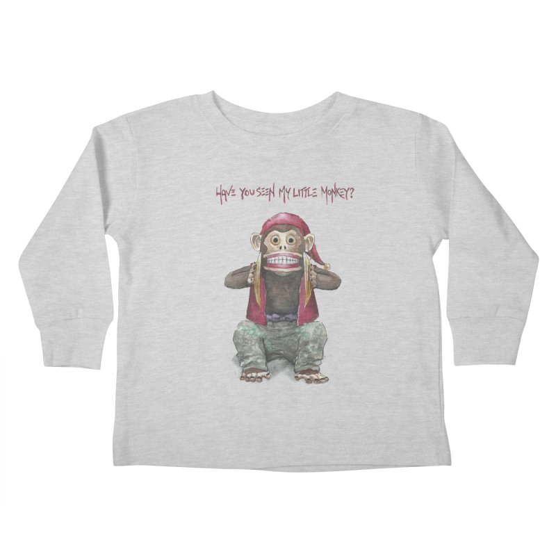 Evil Toy Monkey Kids Toddler Longsleeve T-Shirt by Yodagoddess' Artist Shop