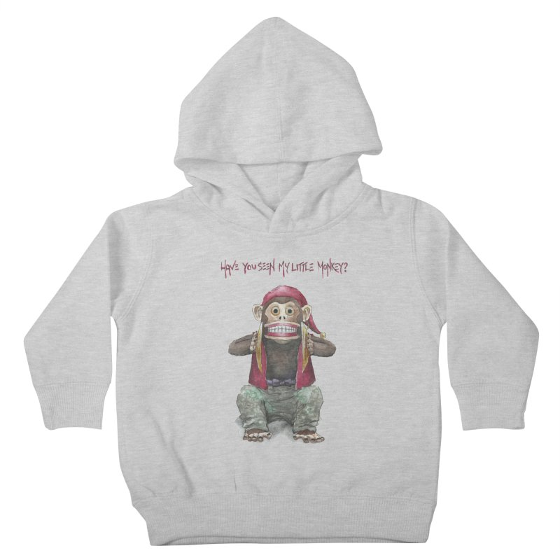 Evil Toy Monkey Kids Toddler Pullover Hoody by Yodagoddess' Artist Shop