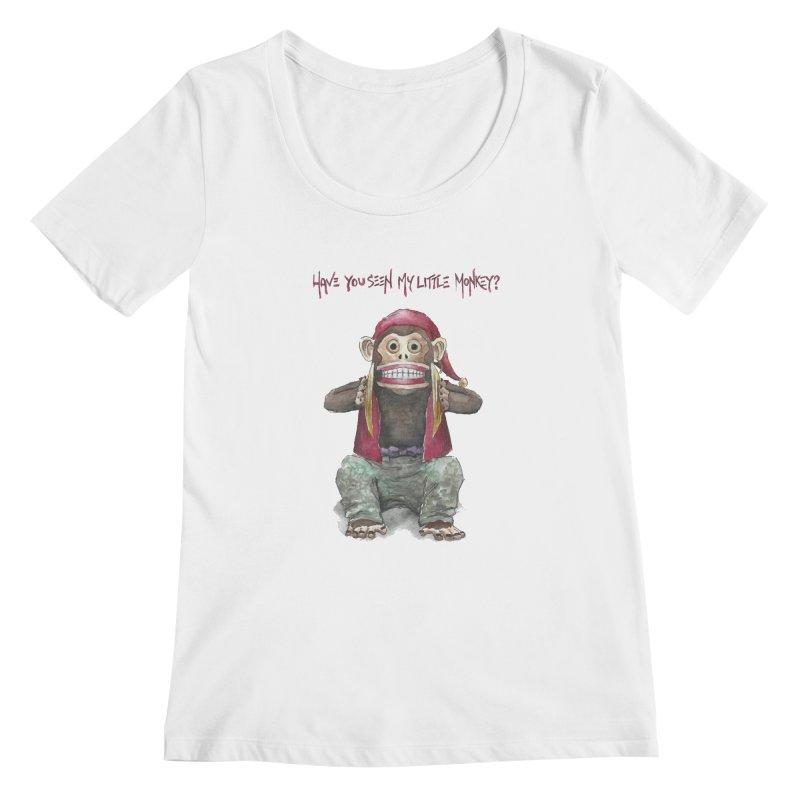 Evil Toy Monkey Women's Scoopneck by Yodagoddess' Artist Shop