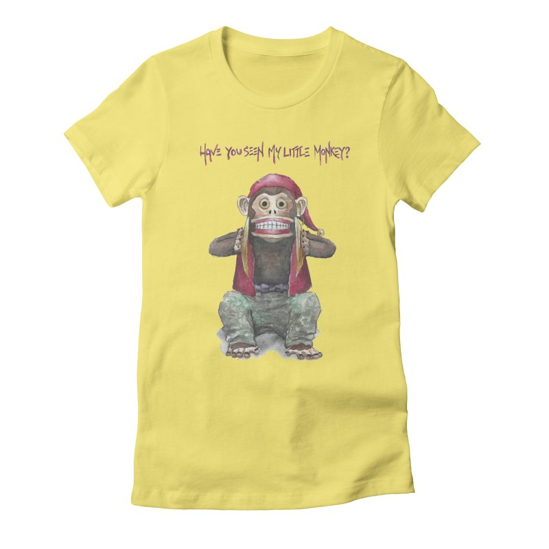 Evil Toy Monkey Women's Fitted T-Shirt by Yodagoddess' Artist Shop