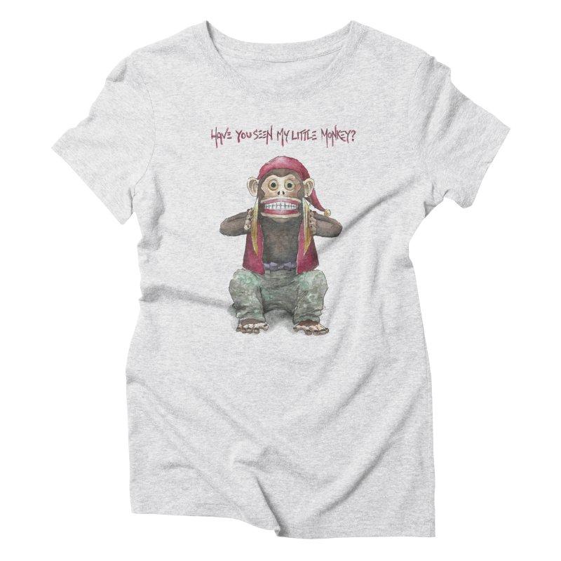 Evil Toy Monkey Women's Triblend T-shirt by Yodagoddess' Artist Shop