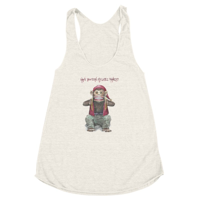 Evil Toy Monkey Women's Racerback Triblend Tank by Yodagoddess' Artist Shop