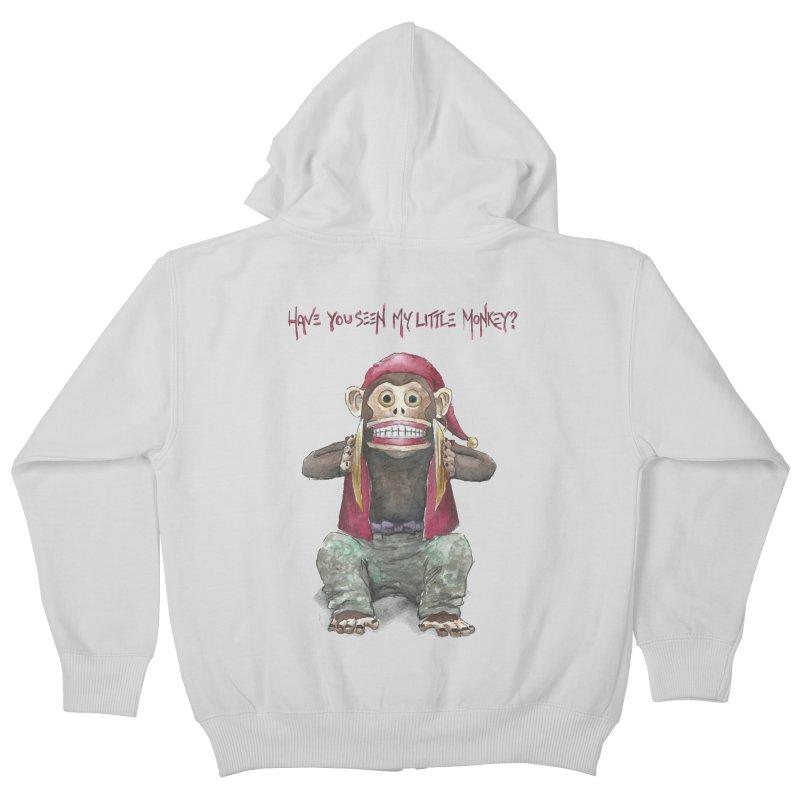Evil Toy Monkey Kids Zip-Up Hoody by Yodagoddess' Artist Shop