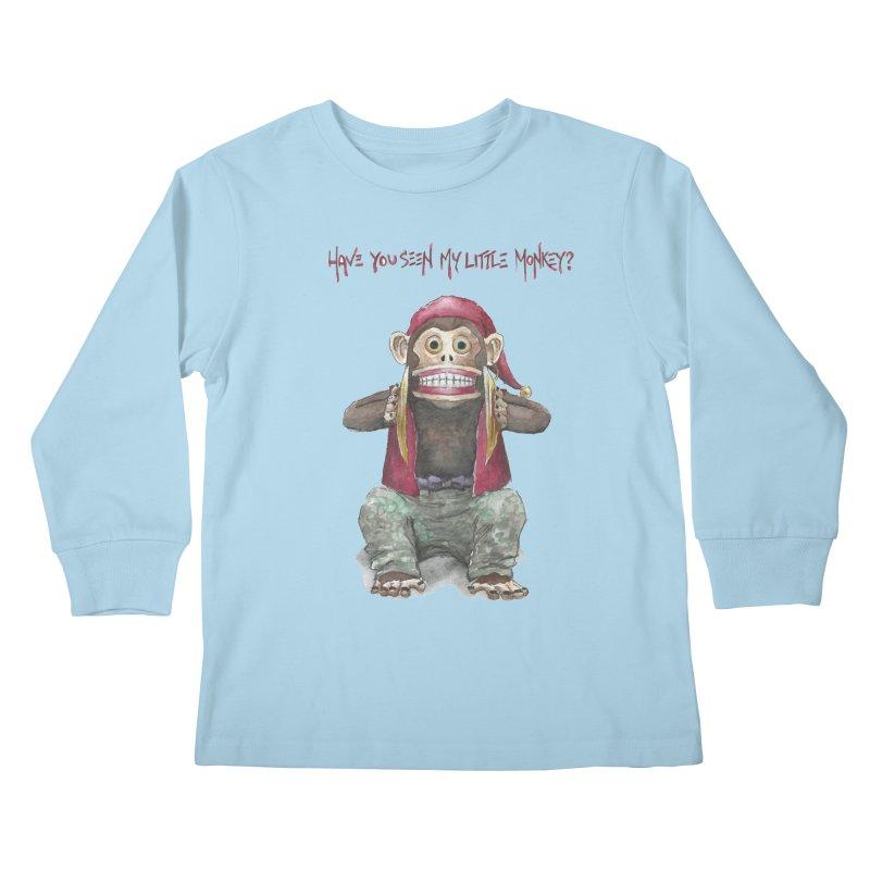 Evil Toy Monkey Kids Longsleeve T-Shirt by Yodagoddess' Artist Shop