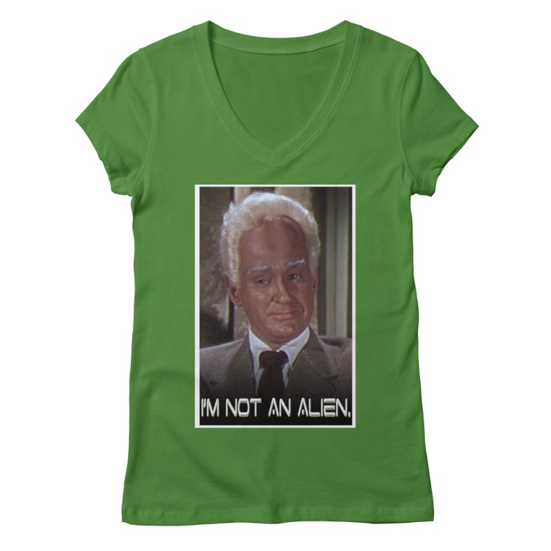 I'm Not an Alien Women's V-Neck by Yodagoddess' Artist Shop