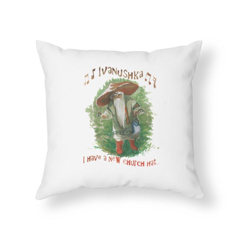 Grandfather Mushroom Home Throw Pillow by Yodagoddess' Artist Shop
