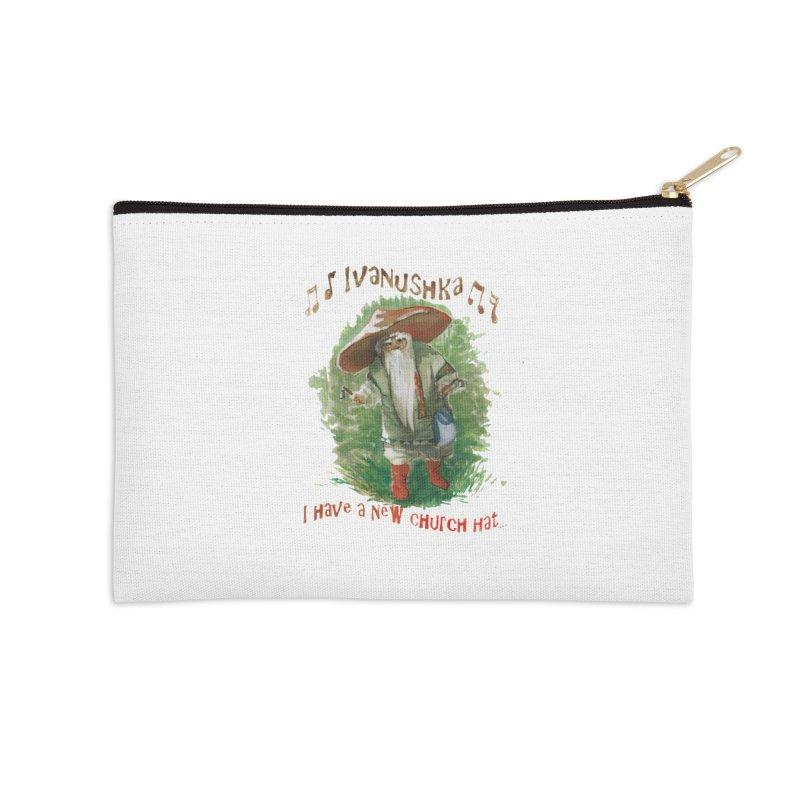 Grandfather Mushroom Accessories Zip Pouch by Yodagoddess' Artist Shop