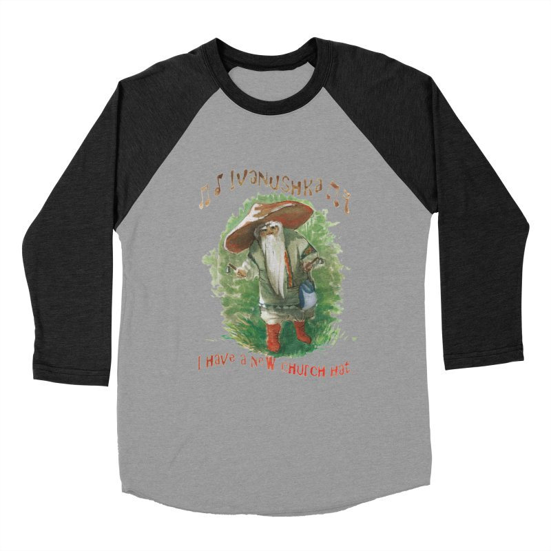 Grandfather Mushroom Women's Baseball Triblend T-Shirt by Yodagoddess' Artist Shop