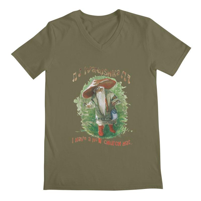 Grandfather Mushroom Men's V-Neck by Yodagoddess' Artist Shop
