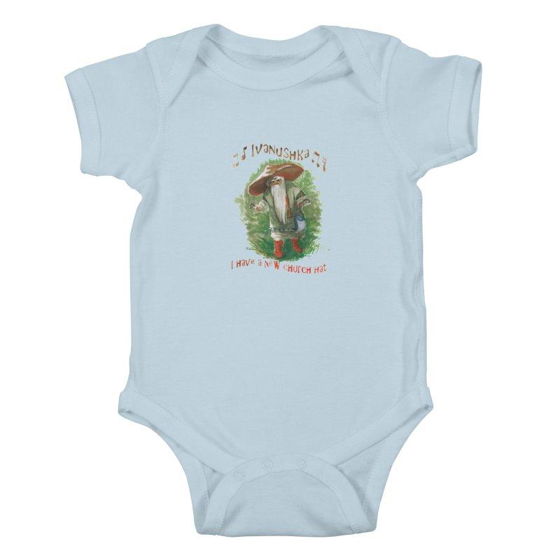 Grandfather Mushroom Kids Baby Bodysuit by Yodagoddess' Artist Shop