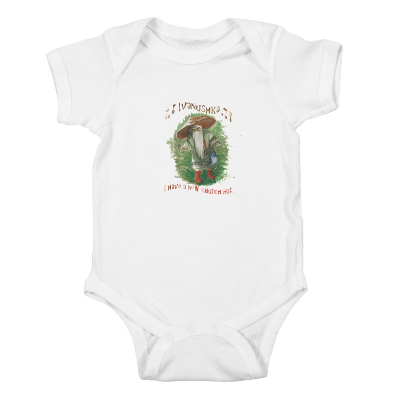 Grandfather Mushroom Kids Baby Bodysuit by Yodagoddess' Artist Shop