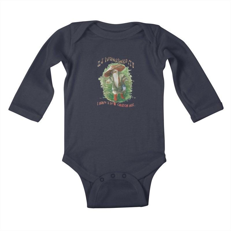 Grandfather Mushroom Kids Baby Longsleeve Bodysuit by Yodagoddess' Artist Shop