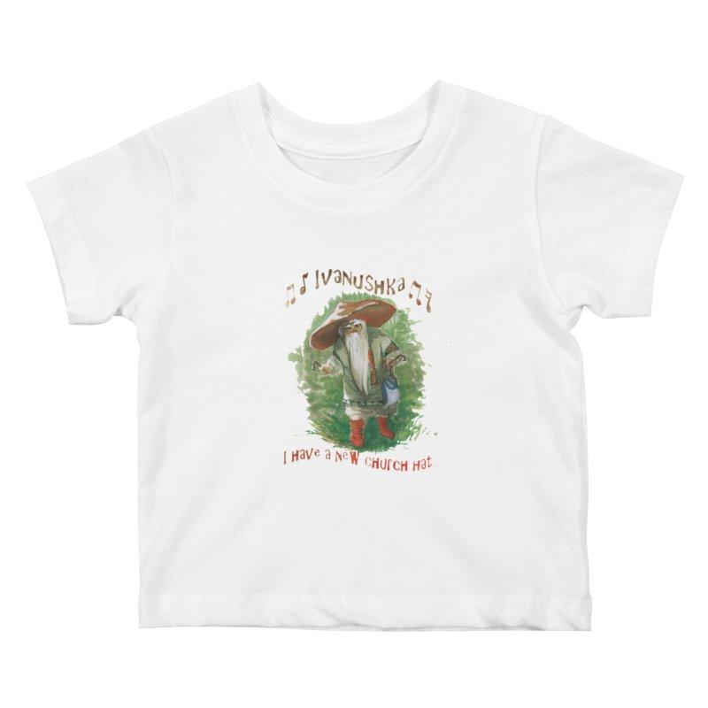 Grandfather Mushroom Kids Baby T-Shirt by Yodagoddess' Artist Shop
